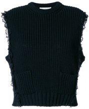 Philosophy Di Lorenzo Serafini - pocket knitted pullover - women - Cotton/Polyamide - 42 - BLACK