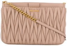 Miu Miu - Borsa a tracolla matelassé - women - Leather - One Size - NUDE & NEUTRALS