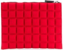 No Ka' Oi - medium grid textured pouch - women - Polyamide/Polyurethane/Spandex/Elastane - OS - RED