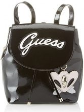 Guess Hobo, Borsa a Zainetto Donna, Nero (Black Shine), 13.5x29x27 cm (W x H x L)