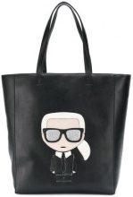 Karl Lagerfeld - Borsa Tote 'Iknoik' - women - Polyvinyl Acetate (PVA)/Leather - One Size - BLACK