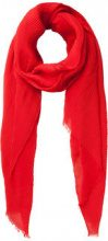 PIECES Long Solid Scarf Women Red