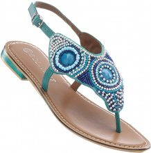 Sandalo infradito in pelle (Blu) - BODYFLIRT
