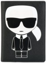 Karl Lagerfeld - Porta passsaporto 'Ikonik' - women - Polyurethane - One Size - BLACK