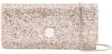 Jimmy Choo - Clutch 'Fie' - women - Leather/Suede - One Size - METALLIC