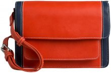 PIECES Two Coloured Crossbody Bag Women Red
