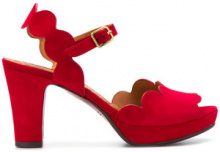 Chie Mihara - Evolet heeled sandals - women - Calf Leather/Calf Suede/rubber - 36, 36.5, 38 - RED