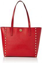 Michael Kors Rivington Stud - Borse a secchiello Donna, Red (Bright Red), 16.5x30.5x44.4 cm (W x H L)
