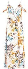 Lanie Ruffle Cold Shoulder Maxi Dress