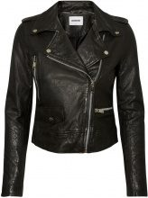 NOISY MAY Short Leather Jacket Women Black