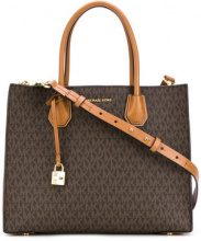 Michael Michael Kors - monogram logo Mercer tote - women - Leather - OS - BROWN