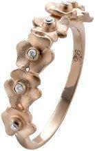 Orphelia dreambase-anello in argento 925 con zirconi bianchi taglio rotondo in - ZR-3934/1, Argento, 12, colore: 18 Karat Rose-Gold Plated, cod. ZR-3934/1/52