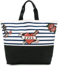 Karl Lagerfeld - Captain Karl shopper tote - women - Canvas - One Size - WHITE