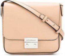Emporio Armani - clasp cross body bag - women - Polyester/Polyurethane - One Size - NUDE & NEUTRALS