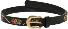 ONLY Embroidery Belt Women Black