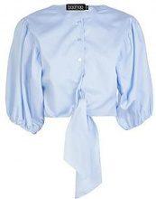 Tessa Tie Front Puff Sleeve Shirt