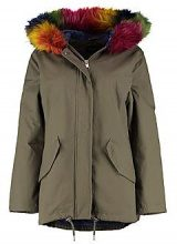 Ashley Parka With Rainbow Faux Fur Hood & Lining