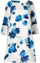 Max Mara Studio - Vestito con stampa a fiori - women - Silk/Acetate/Polyamide - 44 - WHITE