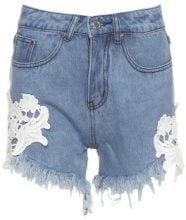 Shorts jeans con pizzo