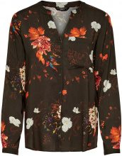 ONLY Flower Printed Long Sleeved Shirt Women Black