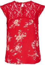 ONLY Printed Sleeveless Top Women Red