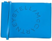 Stella McCartney - Pochette con logo - women - Polyurethane - OS - Blu
