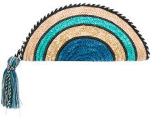 Rebecca Minkoff - straw rainbow clutch - women - Straw/PVC - One Size - MULTICOLOUR