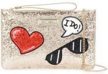 Love Moschino - Pochette glitter - women - Polyurethane - OS - METALLIC