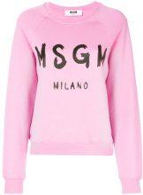- MSGM - Felpa con logo stampato - women - Cotone - M - Rosa & viola