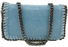 Borsa a tracolla Dream Leather Bags Made In Italy  Borsa Donna A Tracolla In Vera Pelle Colore Turchese - Pelletter