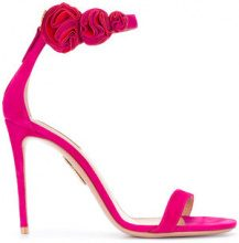 Aquazzura - Desert Rose sandals - women - Suede/Leather - 36, 37.5, 38.5, 39 - PINK & PURPLE