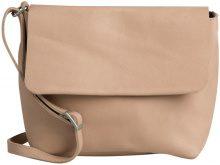 PIECES Leather Crossbody Bag Women Beige