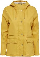 ONLY Solid Rain Jacket Women Yellow