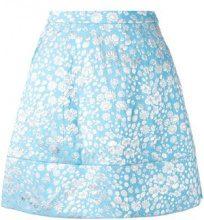 Delpozo - floral a-line skirt - women - Polyamide/Polyester/Viscose - 34, 36 - BLUE