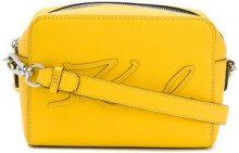 Karl Lagerfeld - K/Signature Essential camera bag - women - Leather - One Size - YELLOW & ORANGE