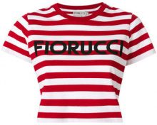 Fiorucci - T-shirt a righe corta - women - Cotton - S, M, XS, L - RED