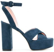 Anna F. - Sandali con plateau - women - Leather/Suede - 37.5, 38, 38.5 - BLUE