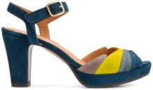 Chie Mihara - colour block ankle strap sandals - women - Leather/Suede/rubber - 36, 37, 38, 39, 40 - BLUE