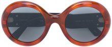 Gucci Eyewear - occhiali da sole rotondi - women - Acetate - OS - BROWN