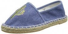 New LookMoral - Espadrille donna , blu (Blue (Light Blue)), 35.5