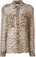Twin-Set - Camicia con stampa leopardo - women - Viscose - 42 - BROWN