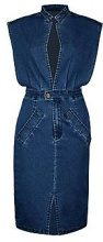 Abito in Denim frontale con boutique Jessica Open