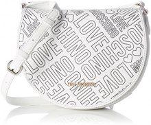 Love Moschino Borsa Embossed Pu Bianco - Borse a spalla Donna, Weiß (White), 18x23x8 cm (L x H D)