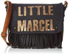 Little Marcel Vi04 - Borse a tracolla Donna, Noir (Black), 8x22x30 cm (W x H L)