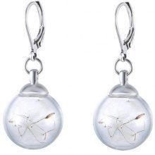 Orecchini di perle in vetro con soffioni