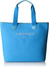 Twin Set As8pna, Borsa a Spalla Donna, Turchese, 15x36x34 cm (W x H x L)
