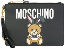 Moschino - Playboy Toy Bear clutch - women - Leather/Calf Leather - OS - BLACK