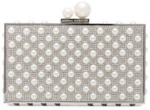 Sophia Webster - Clutch 'Clara' - women - Metal (Other)/glass/Pearls/Leather - One Size - METALLIC