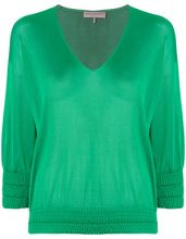 Emilio Pucci - v-neck jumper - women - Viscose - XS, S, M, L - GREEN