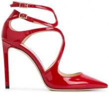 Jimmy Choo - Sandali Lancer 100 - women - Calf Leather/Leather - 36, 36.5, 37, 38.5, 40, 37.5, 38, 39, 39.5, 41, 35.5 - RED